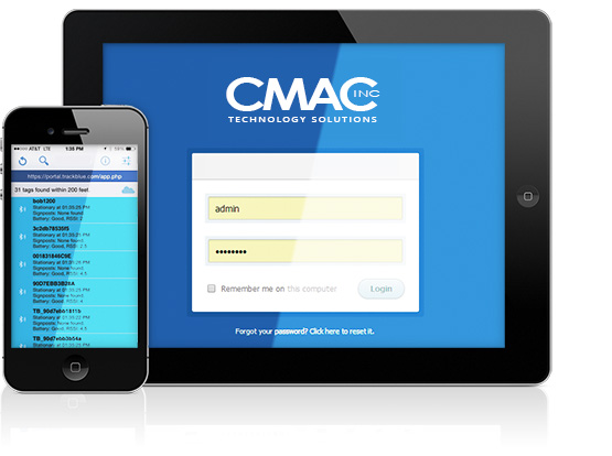 CMAC Beacons - Tablet and Phone TouchScreen Interface