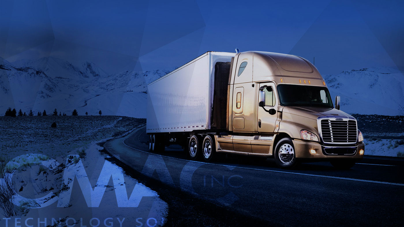 CMAC Inc. Technology Solutions Truck Driving Slider Image